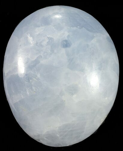 "Bulk: Polished Blue Calcite ""Pebble"" - Single Stone - Photo 1"