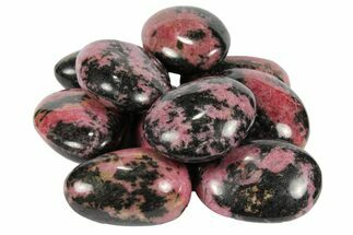 "2"" Polished Rhodonite Palm Stones - 1 KG Bag"
