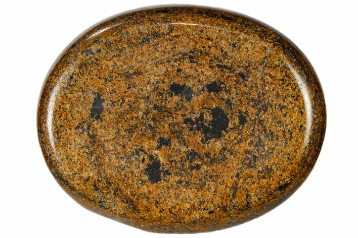 "2"" Polished Bronzite Worry Stone  - Photo 1"
