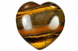 "1.6"" Polished Tiger Iron Heart"