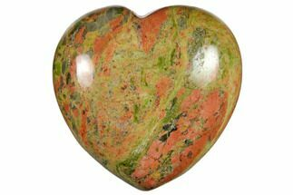 "1.4"" Polished Unakite Heart"