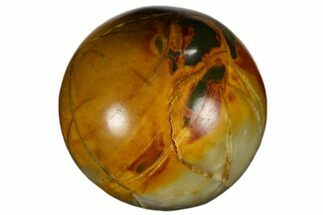 ".9"" Polished Cherry Creek jasper Sphere"