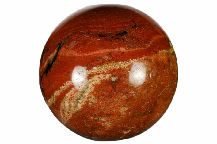 "1.2"" Polished Red Jasper Sphere - Photo 1"