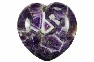 "1.6"" Polished Chevron Amethyst Heart"