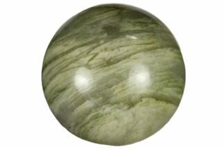 ".9"" Polished Green Hair Jasper Sphere"
