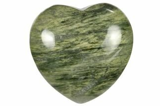 "1.6"" Polished Green Hair Jasper Heart"