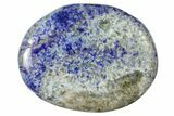 "1.8"" Polished Lapis Lazuli Flat Pocket Stone  - Photo 3"