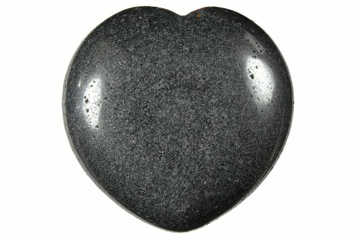 "1.6"" Polished Hematite Hearts - Photo 1"