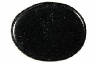 "1.8"" Polished Black Obsidian Flat Pocket Stones"