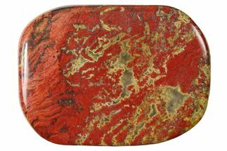 "1.8"" Polished Brecciated Red Jasper Flat Pocket Stone"