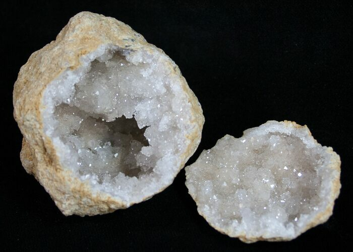 "2"" Quartz Geodes From Morocco - 3 Pack - Photo 1"