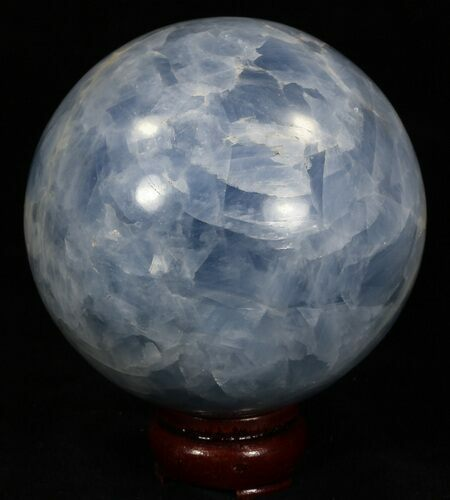 "3.85"" Polished Blue Calcite Sphere"