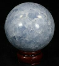 "Buy 3"" Polished Blue Calcite Sphere - #32131"