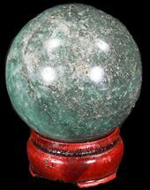"Buy 2.36"" Aventurine (Green Quartz) Sphere - Glimmering - #32134"