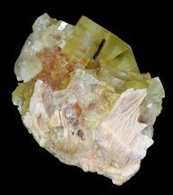 "Buy 2.1"" Lustrous, Yellow Cubic Fluorite Crystals - Morocco  - #32308"