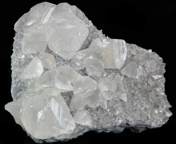 "4.3"" Gemmy Calcite Crystals On Matrix - Meikle Mine, Nevada"