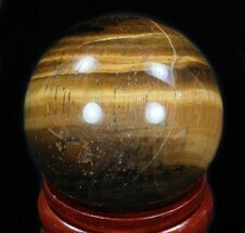 "Top Quality 2.35"" Polished Tiger Iron (Tiger's Eye) Sphere For Sale, #33635"