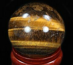"Buy Top Quality 2.25"" Polished Tiger's Eye Sphere - #33640"