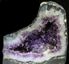 "14"" Dark Amethyst Geode With Calcite Crystals - 53 lbs For Sale, #34439"