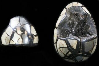 "Buy 6.7"" Septarian ""Dragon Egg"" Geode With Removable Section - #34690"