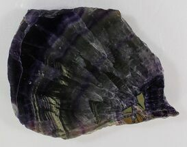 "Buy 4.4"" Polished Fluorite Slab - Purple - #34858"
