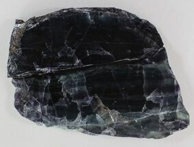 "5.8"" Polished Fluorite Slab - Purple & Green For Sale, #34862"