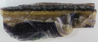 "8.8"" Polished Fluorite Slab - Purple, Green & Gold For Sale, #34868"