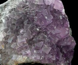 "5"" Cubic, Purple Fluorite Crystal Cluster - China For Sale, #33710"