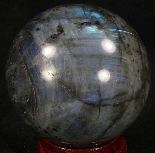 "2.68"" Flashy Labradorite Sphere - Great Color Play"