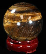 "Buy Top Quality 2.6"" Polished Tiger's Eye Sphere - #37594"