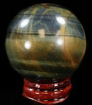 "Buy Top Quality 1.8"" Polished Tiger's Eye Sphere - #37690"