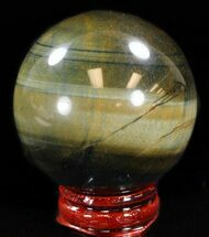 "Top Quality 2"" Polished Tiger Iron (Tiger's Eye) Sphere For Sale, #37691"