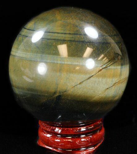 "Top Quality 2"" Polished Tiger Iron (Tiger's Eye) Sphere"