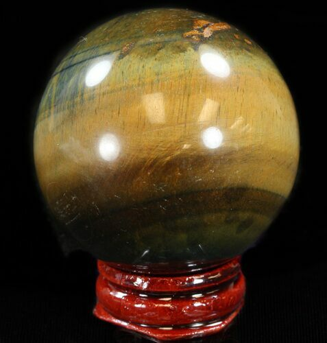 "2"" Polished Tiger's Eye Sphere"