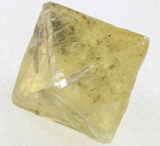 ".73"" Yellow, Cleaved Fluorite Octahedron - Illinois"