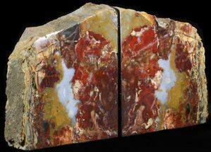 "7"" Jasper Replaced Petrified Wood Bookends - Oregon For Sale, #41504"