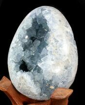 "Buy 6.1"" Crystal Filled Celestite ""Egg"" - Blue Geode - #41716"