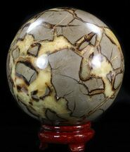 "Buy 6.15"" Polished Septarian Sphere - 13 lbs (Cyber Monday Deal!) - #43789"