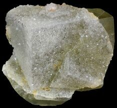 "2.7"" Quartz Encrusted Yellow Cubic Fluorite - Morocco  For Sale, #44864"
