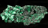 "4.3"" Silky Fibrous Malachite Crystal Cluster - Congo - #45327-1"