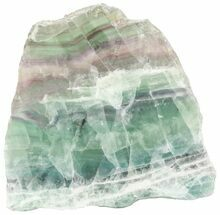 "Buy 5.8"" Polished Fluorite Slab - Purple, Green, White - #45439"