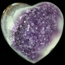 "Buy 2.8"" Purple Amethyst Crystal Heart - Uruguay - #46201"