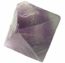 "1.69"" Fluorite Octahedron - Banded Purple/Green For Sale, #48269"