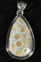 Buy 20 Million Year Old Fossil Coral Pendant - Sterling Silver - #48817