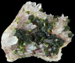 Epidote & Quartz - Fossils For Sale - #49407