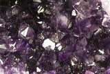 "14.5"" Deep Purple Amethyst Geode with Calcite - Top Quality - #50065-3"