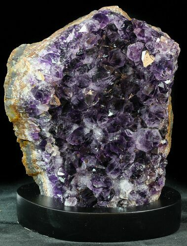 "6.3"" Dark Purple Amethyst Cluster On Wood Base"