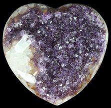 "Buy 4.2"" Purple Amethyst Crystal Heart - Uruguay - #50905"
