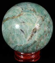 "2.2"" Polished Amazonite Crystal Sphere - Madagascar For Sale, #51599"