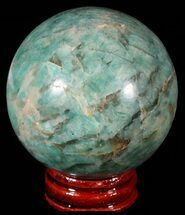 "2.1"" Polished Amazonite Crystal Sphere - Madagascar For Sale, #51617"